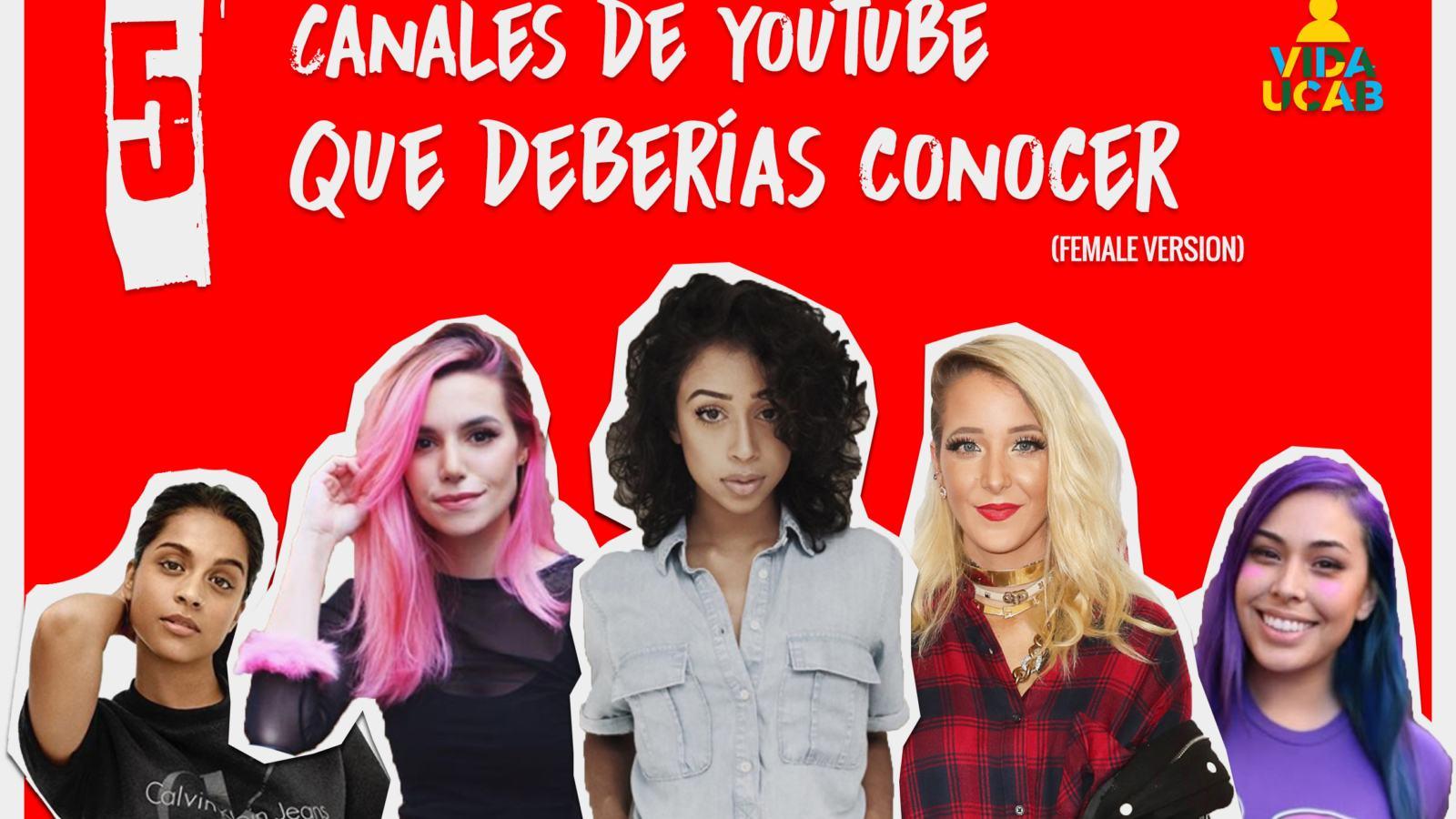 canales de youtube femeninos